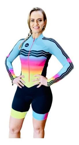 Imagem 1 de 8 de Macaquinho Ciclismo Feminino Elite Zig Zag Ml