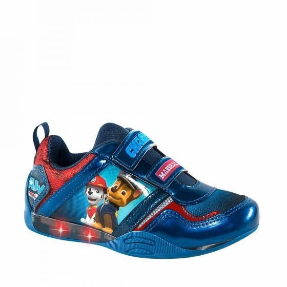 Tenis Casual Paw Patrol 5633 Azul Marino Luces Led