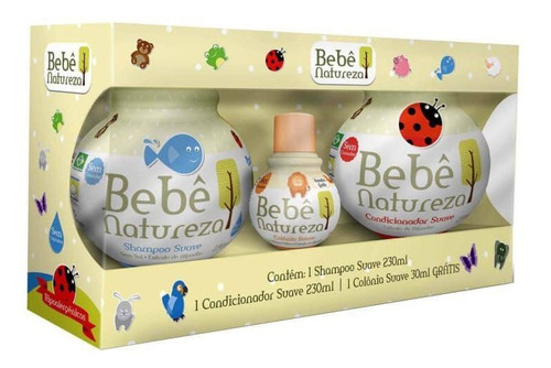 Bebê Natureza Shampoo + Condicionador 230ml + Colônia 30ml