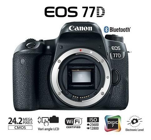Câmera Canon Eos 77d - 24.2mp. + Lentes 18-135 + 75-300