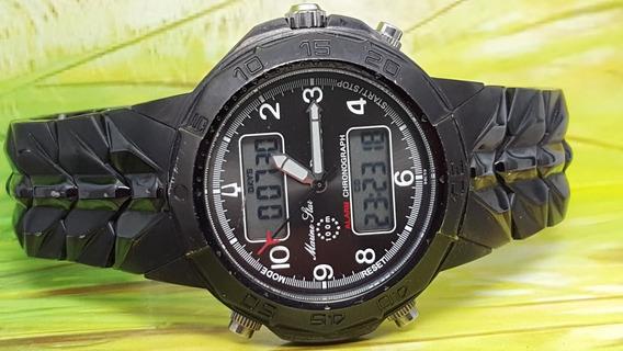 Relógio Bulova Ww98c59 Marine Star, Com Cronometro Digital.