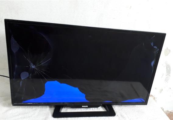 Tv Philips Tela Plana 32 Phg 4900/78 Led Tela Quebrada C2672
