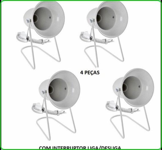 Suporte De Mesa Fisioterapia S/ Lampada Com 4 Pçs