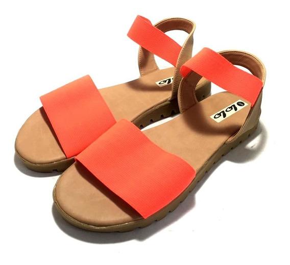 Sandalas De Mujer Con Elastico Pulsera Faja (ol/pipi)