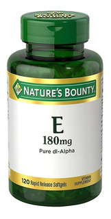 Vitamina E 180mg Natures Bounty Antioxidante X 120 Caps