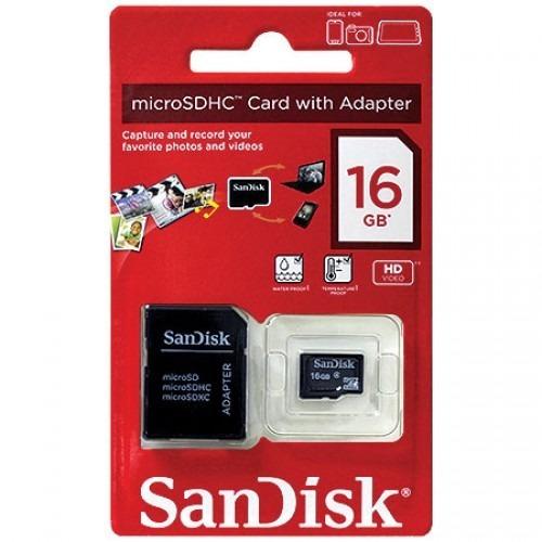 Cartão De Memória Sd Sandisk 16gb Original Lacrado