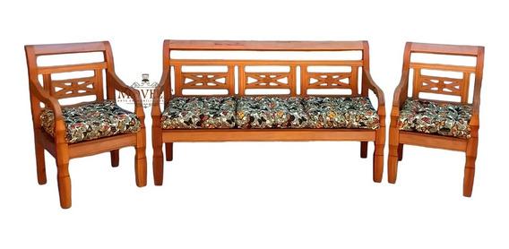 Poltrona Decorativa Em Madeira Demolição Rústica