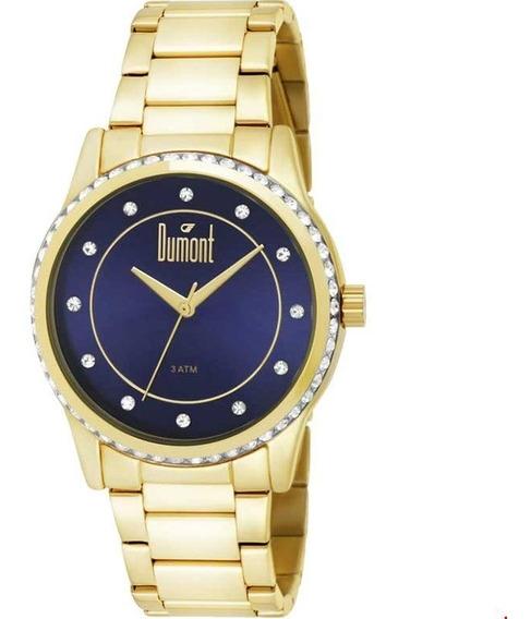 Relógio Dumont Feminino Dourado - Du2035lqc/4a