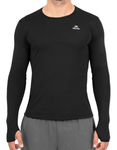 Camisa Running Performance G1 Uv50 Ls/hc Masculino P Muvin