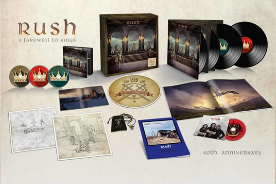 Rush - A Farewell To Kings 40th Anniversary 3cd Blu-ray 4lp