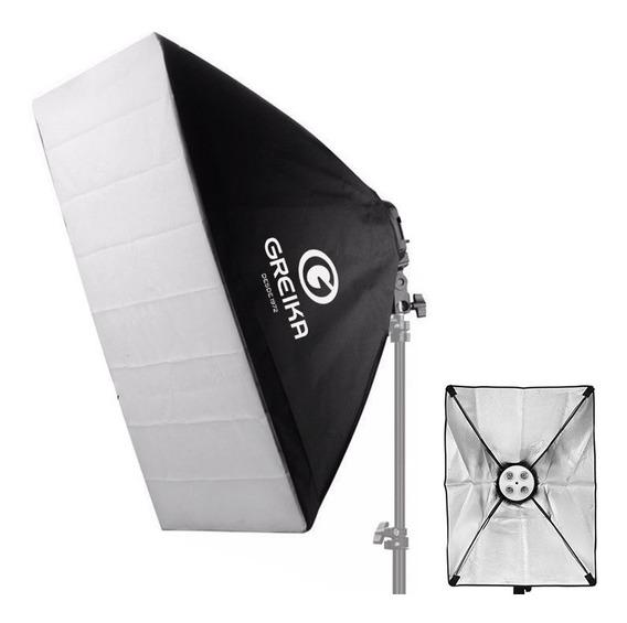 Softbox Greika 50x70 Iluminador C/ Soquete P/ 4 Lâmpadas