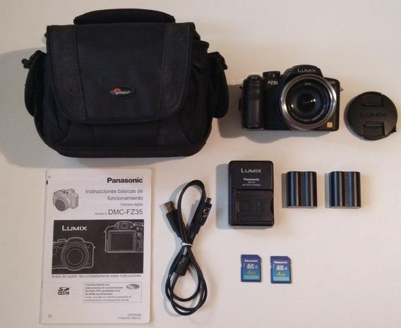 Câmera Fotográfica E Filmadora Hd Panasonic Lumix Dmc Fz35