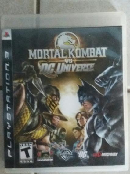 Jogo Para Ps3 Mortal Kombat Vs Dc Universe