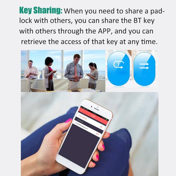 Mini Segurança Inteligente Cadeado De Bt Para App Andróide D