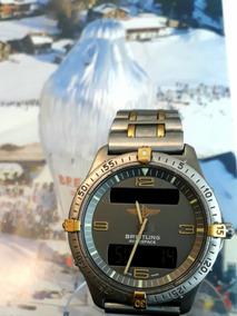 Relogio Breitling Aerospace Titanium E Ouro 40 Mm Digital