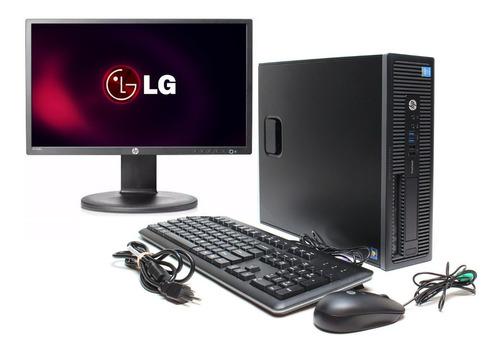 Imagem 1 de 8 de Cpu Hp Prodesk Core I5 8gb 240gb Ssd + Monitor LG 20p
