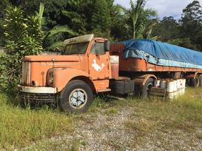 Limpa Patio - Sucata Scania 111 Com A Carreta