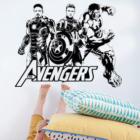 Adesivo De Parede Vingadores Marvel 03 - Grande 98x77cm