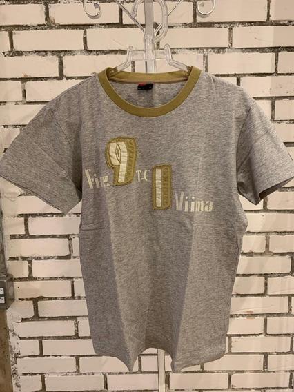 Camiseta Diesel Masculino Cinza Com Bordado