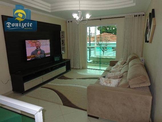 Sobrado Com 3 Dormitórios À Venda, 173 M² Por R$ 749.000,00 - Campestre - Santo André/sp - So1959