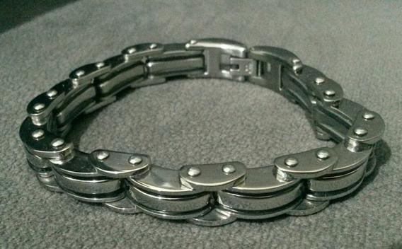 Pulseira Bracelete Convex Modelo Corrente Racing Aço Inox