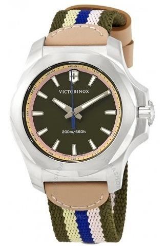 Relógio Victorinox Inox Feminino Diver Marrom/verde Borracha