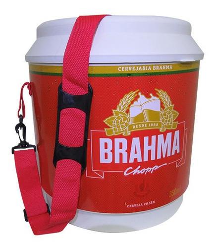 Imagem 1 de 7 de Cooler Térmico Barril Brahma 20 Litros Com Alça De Ombro