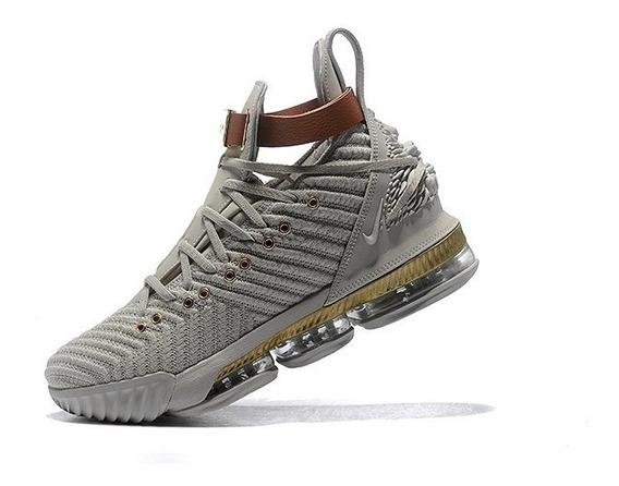 Zapatillas Nike Lebron 16 Gris Calro Talla: 40-46