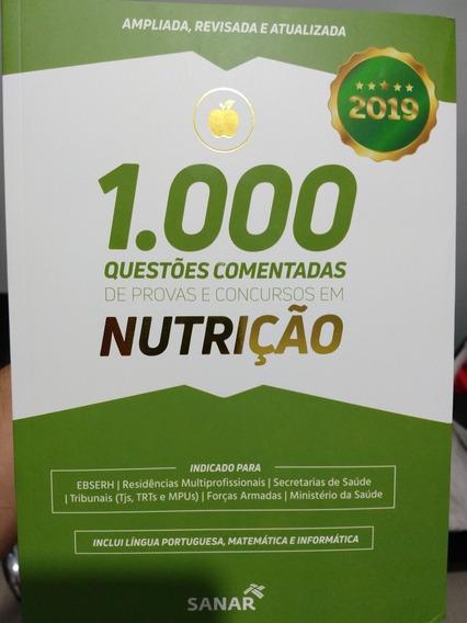 Livro - 1.000 Questões Comentadas Nutrição 2019 Novo!!
