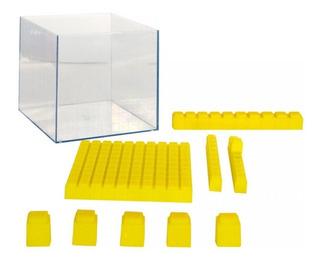 Cubo Base 10 Conectable, Con Estuche Material Didáctico