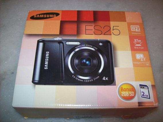 Camera Digital - Samsung - Es25 - Com Cartão De 2gb - Prata