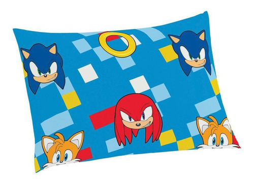 Imagem 1 de 2 de Fronha Do Sonic Infantil