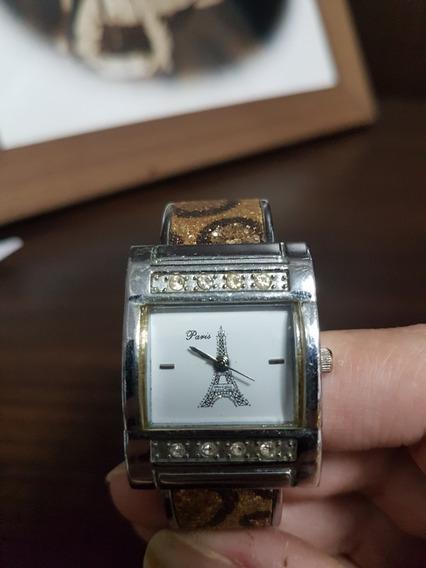 Relógio De Pulso Feminino Paris Stainless Steel Back