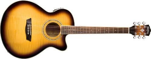 Guitarra Washburn Electroacústica Ea-15 Natural / Sunb Envio