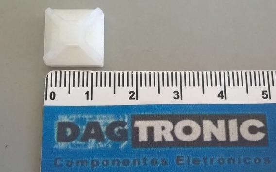 50x Clip Fixador Adesivo Mb2a 13x13mm P/ Abraçadeira T18r
