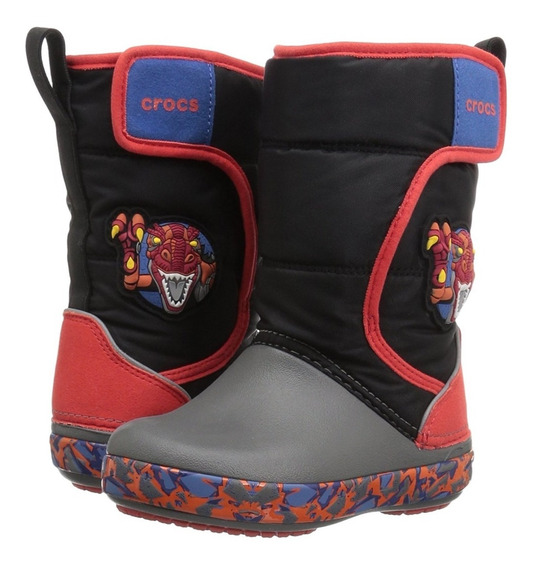 Bota De Lluvia Kids Crocs Lodgepoint Lights Roborex