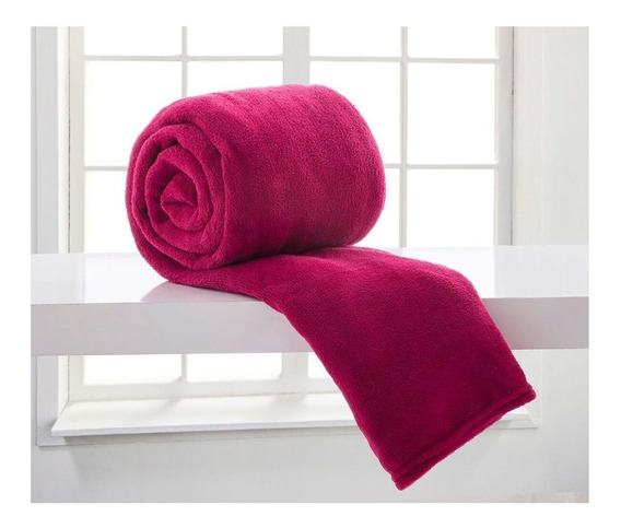 Cobertor Corttex Home Design Casal cereja liso