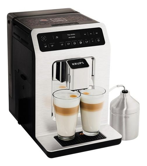 Cafetera Automática Espresso Krups Ea891c50 Capuchino Latte 1450w * 3 Niveles De Molienda * 2 Tazas A La Vez * Premium *