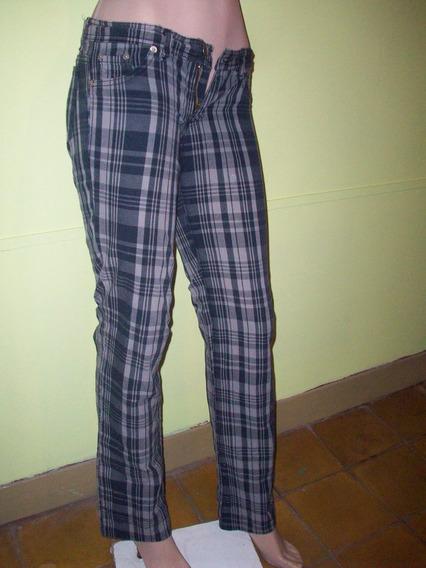 Pantalon Nahana Cuadrille ,semielastizado Talle 34