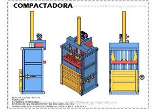 Plano De Compactadora 20tn Papel, Carton, Plastico Botellas