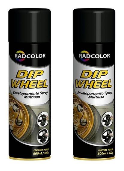2 Spray Grafite De Envelopamento Líquido Dip Wheel 500ml
