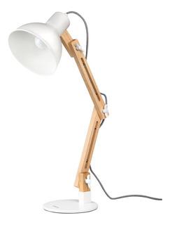 Lámpara De Escritorio Oficial Ecológica Base Madera 40w