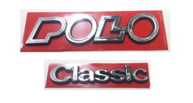 Kit Emblemas Volkswagen Polo Classic 91 92 93 94 À 97 Brinde