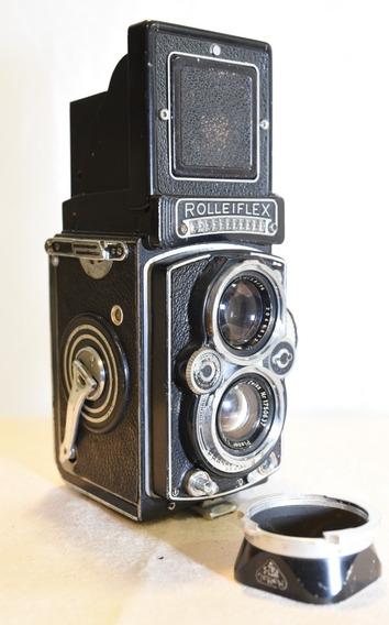 Câmera Tlr Antiga Vintage Rolleiflex 3.5c Zeiss Planar