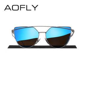 5b6aaa31c Óculos De Sol Feminino Aofly Polarizado Proteção Uv Original