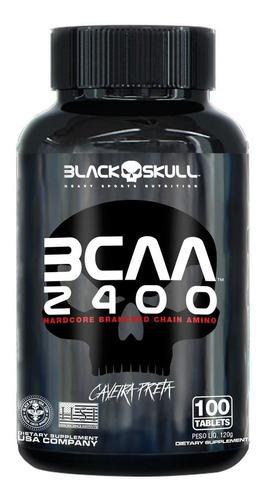 Bcaa 2400 100 Tabletes - Black Skull - Massa Muscular