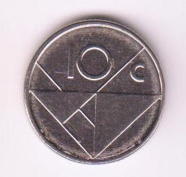 Aruba 2009 Moneda De 10 Centimos Sin Circular