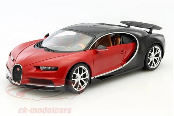 Bugatti Chiron 1/18 Bburago Burago Detalles Realistas Rojo