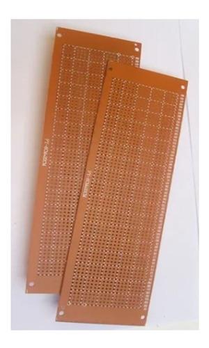 Lamina Baquelita Perforada Circuito Electronica 6x20cm