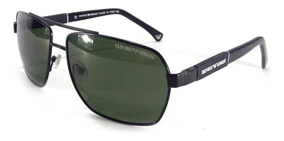 Oculos De Sol Masculino Ea3073 Armani Premium Tamanho G Moda